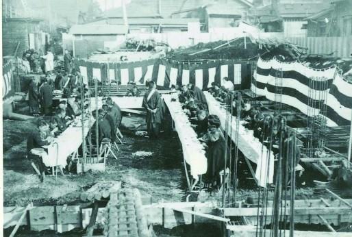 昭和6年淀橋道場起工式